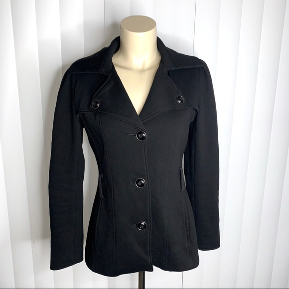 Kenneth Cole Reaction Jackets & Blazers - Kenneth Cole Reaction Black Pea Coat